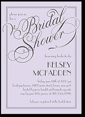 framed elegant wishes bridal shower invitation