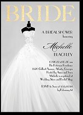 exquisite bride bridal shower invitation