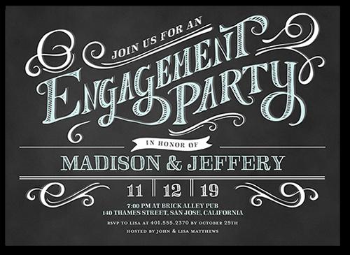 Enchanting Engagement Engagement Party Invitation, Square Corners