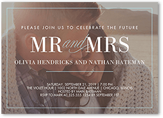 our beginning engagement party invitation