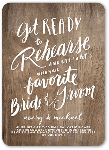 Favorite Couple Rehearsal Dinner Invitation, Rounded Corners