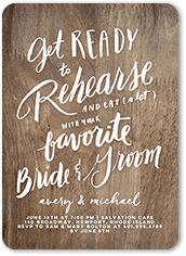 Elk Design Rehearsal Dinner Invitations
