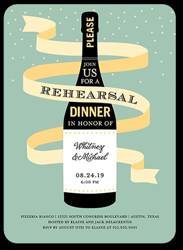 Magnum Celebration Rehearsal Dinner Invitation, Rounded Corners
