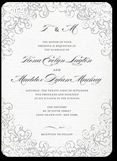 dazzling lace wedding invitation