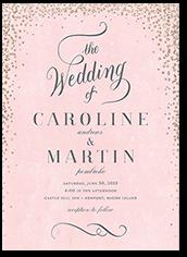 scintillating confetti wedding invitation