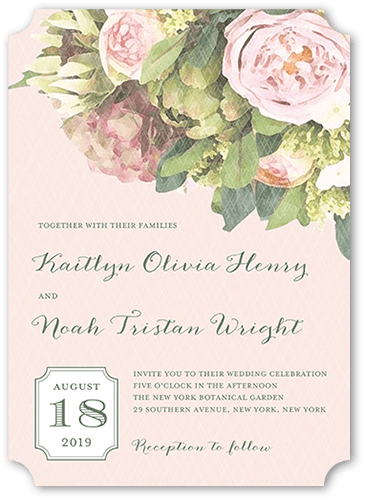 flowering affection wedding invitation - Shutterfly Wedding Invitations