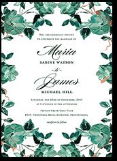 shining floral wedding invitation