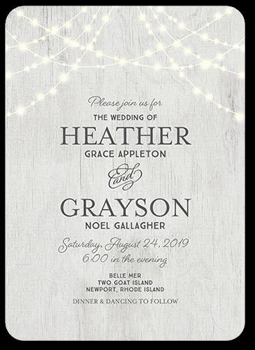 Glowing Ceremony 5x7 Wedding Invites Shutterfly