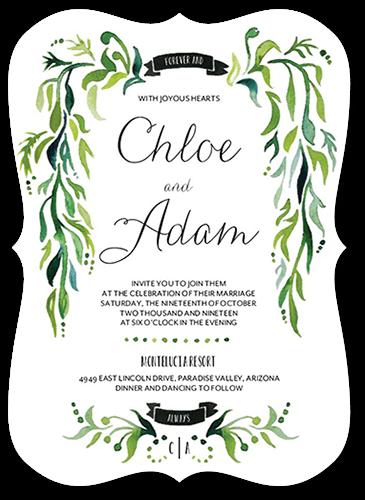 Lavish Laurel Wedding Invitation