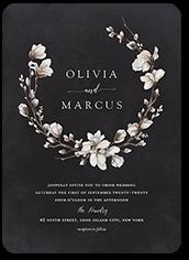 blossoms of love wedding invitation