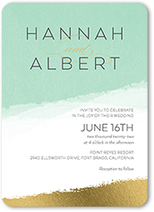 textured brush wedding invitation