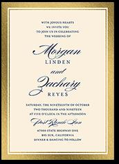 remarkable frame classic wedding invitation