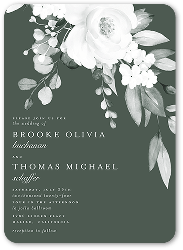 Elegantly Delicate wedding invitation in Green by Magnolia Press for Wedding Paper Divas at The Wedding Shop by Shutterfly