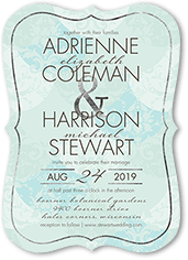 tenderly textured wedding invitation