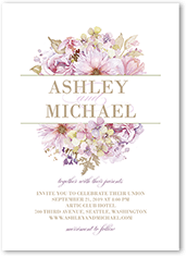 watercolor bouquet wedding invitation