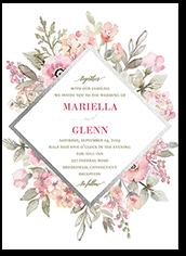 diamond blossoms wedding invitation