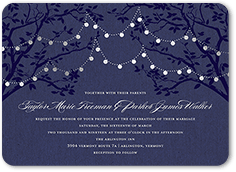 enlightened evening wedding invitation