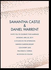 shimmering speckles wedding invitation