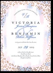 spectacular specks wedding invitation
