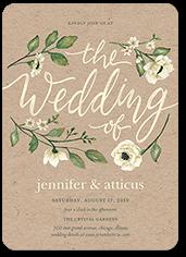delightful blooms wedding invitation