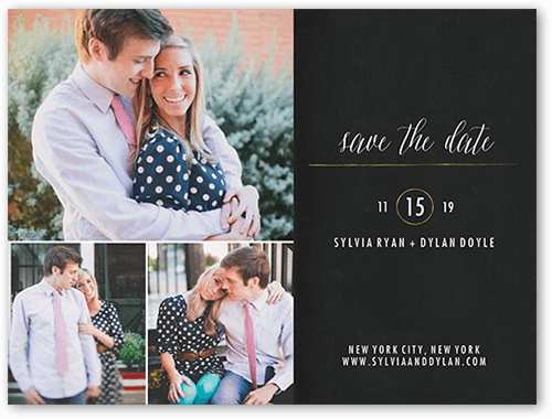 Simply Radiant Save The Date, Square