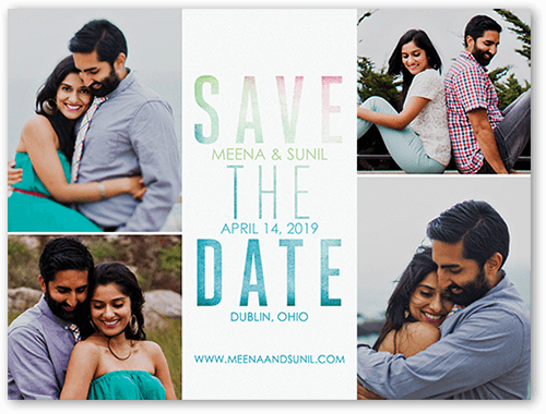 Vivid Vows Save The Date, Square