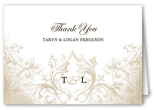 Faded Scroll Thank You Card