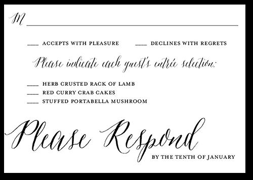 Fine Forever Wedding Response Card, Square Corners