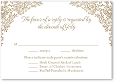 foremost floral wedding response card