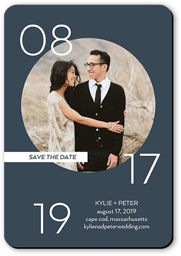 Circled Affection Save The Date, Rounded Corners
