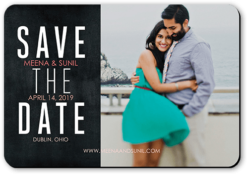 Vivid Vows Save The Date, Rounded Corners