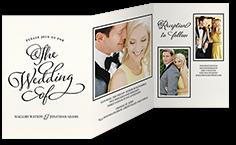 lovely beginning wedding invitation