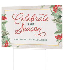 celebrate the season yard sign