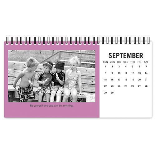 classic solids desk calendar
