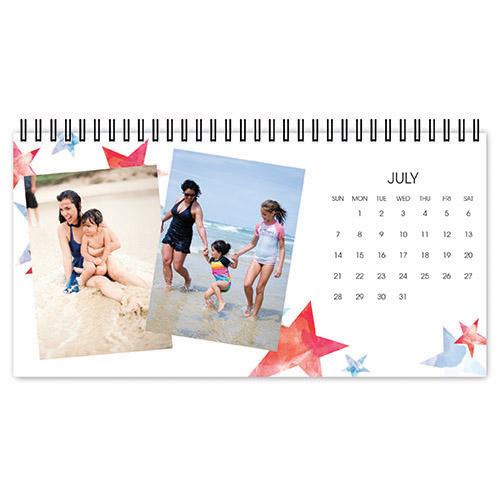 watercolor seasons desk calendar