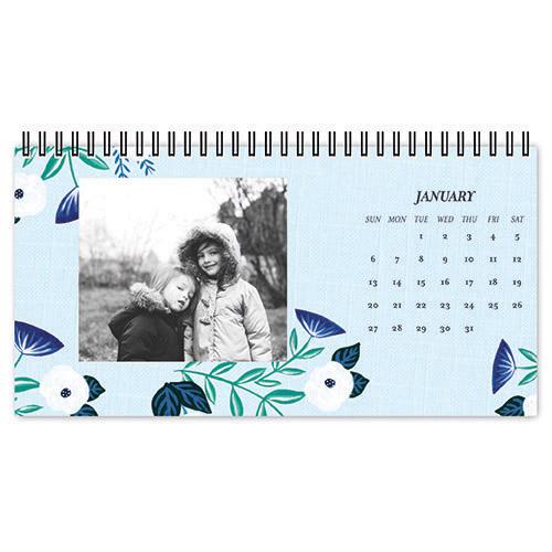 whimsical florals desk calendar