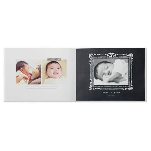 baby black and white photo book