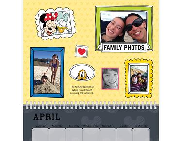 Wall Calendar, 8X11, Disney Adventures, Storytelling Style