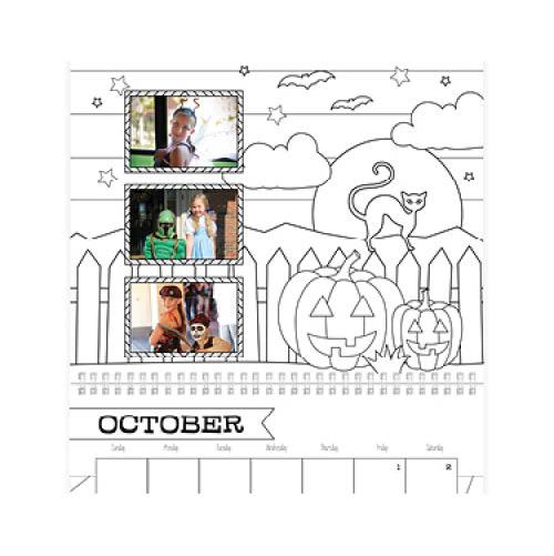 kids coloring calendar wall calendar