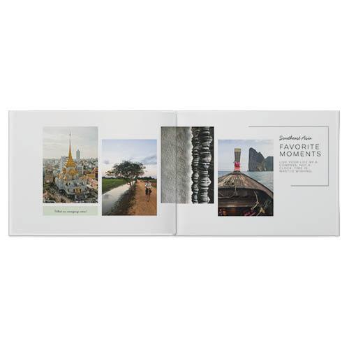 modern travel photo book