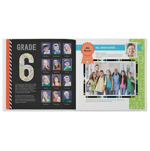 chalkboard yearbook photo book