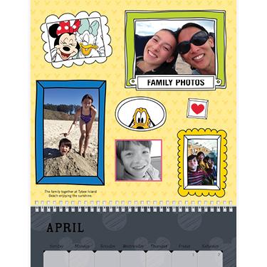 Wall Calendar, 12X12, Disney Adventures, Storytelling Style