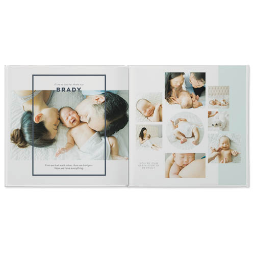 modern baby story photo book