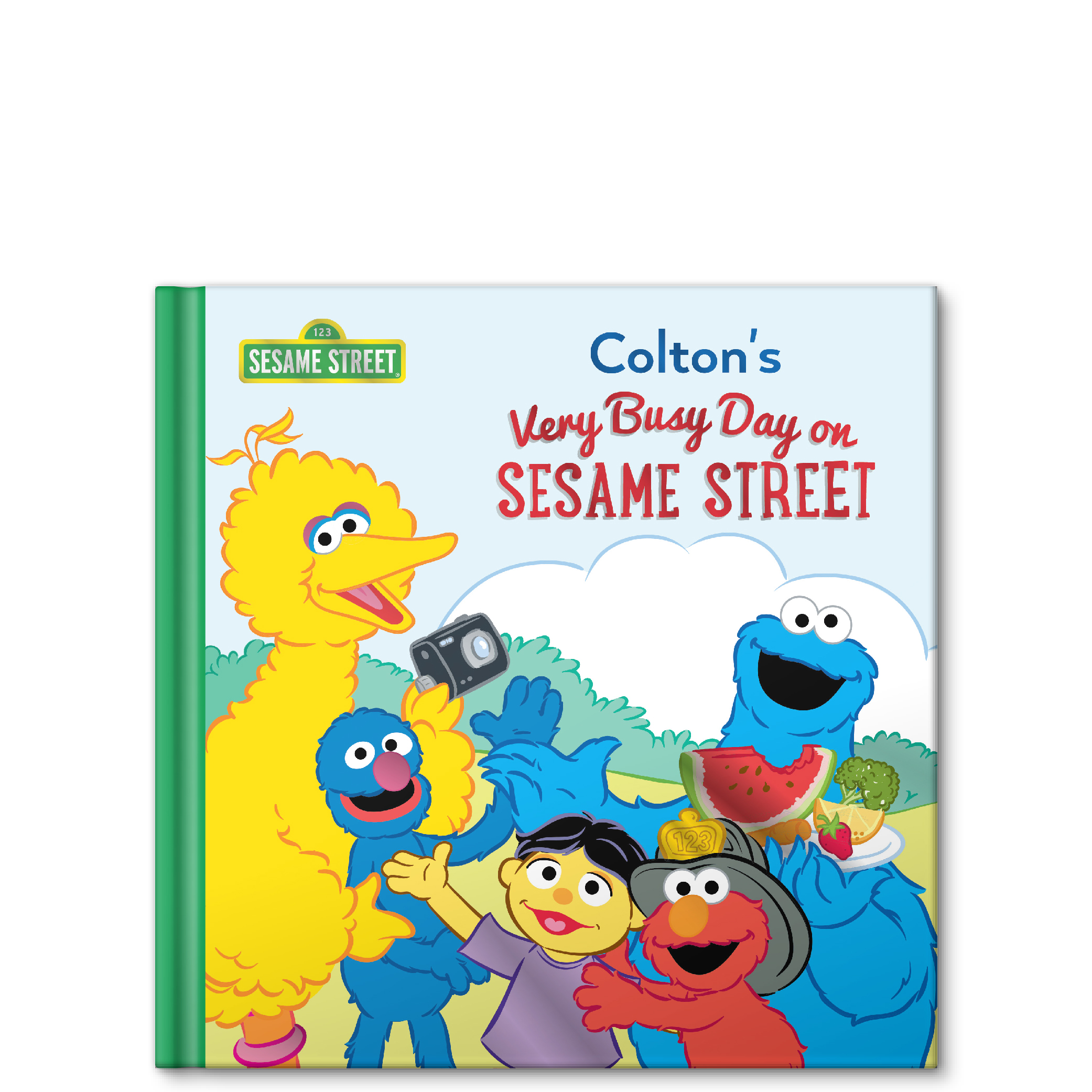 my very busy day on sesame street personalized story book