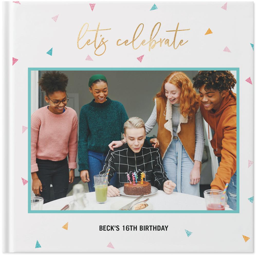 colorful birthday photo book