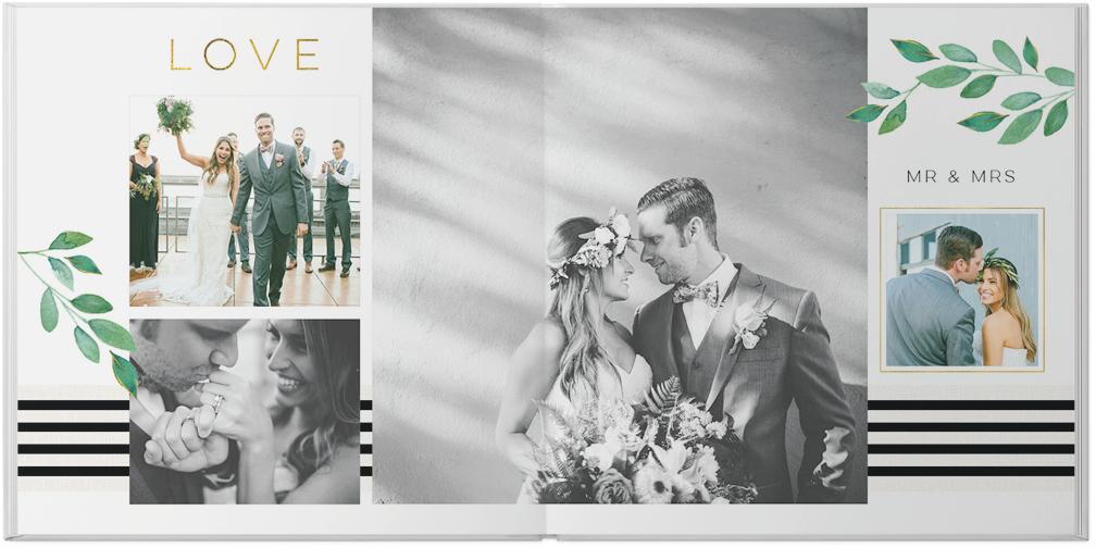 gilded wedding photo book