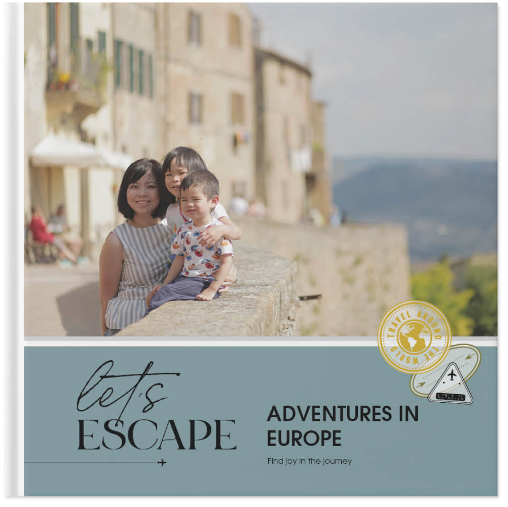 travel abroad photo book